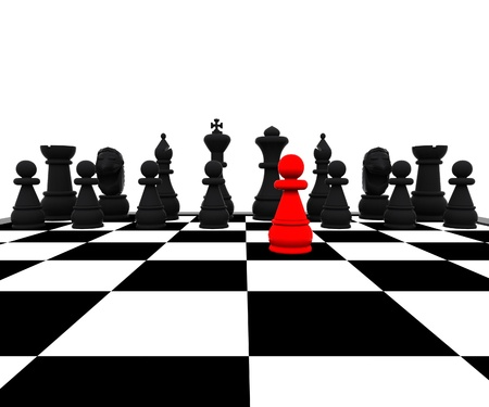 3d Chess - Red Pawn
