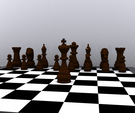 3d Chess - wood material  photo