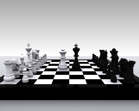 3D Chess - King and Queen  photo