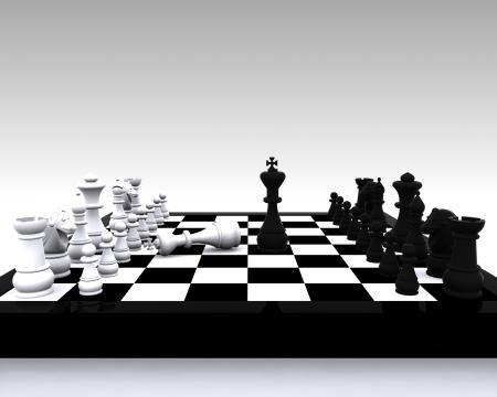 clash: 3D Chess - enfrentamiento entre el Rey y la victoria Foto de archivo