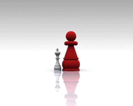 Chess 3D - Metapher Standard-Bild - 14746174