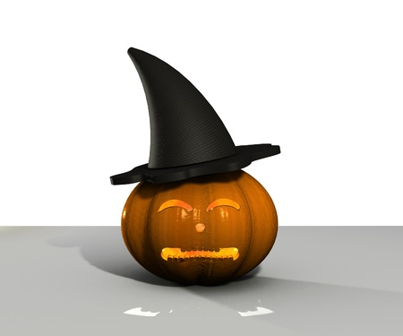 Halloween Pumpkin - 3D Stock Photo - 15148591