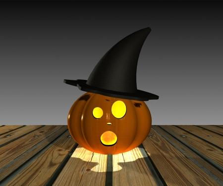Halloween Pumpkin - 3D Stock Photo - 15148596