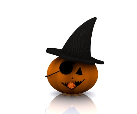 Pumpkin pirate Halloween - 3D Stock Photo - 15148588