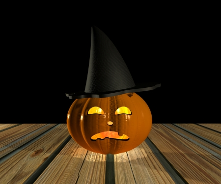 Halloween Pumpkin - 3D Stock Photo - 15148594