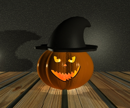 Halloween Pumpkin - 3D photo