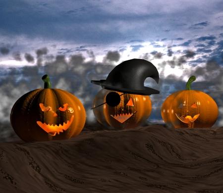 2 november: Halloween pumpkins - 3D