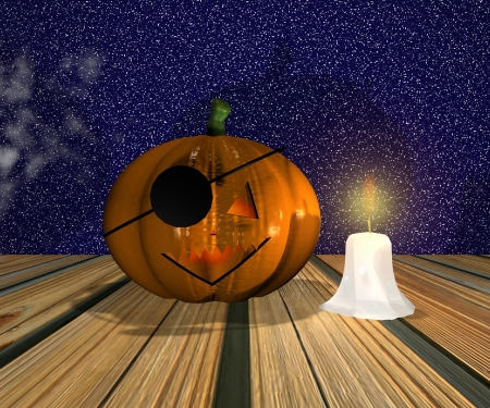 Halloween background - 3D Stock Photo - 15284115