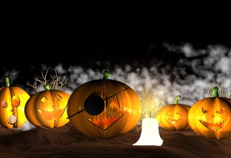 Halloween background - 3D photo