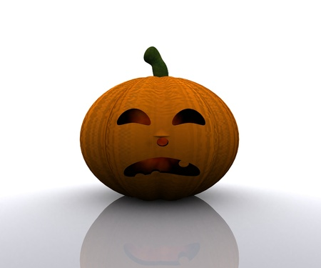 Halloween Pumpkin - 3D Stock Photo - 15334364