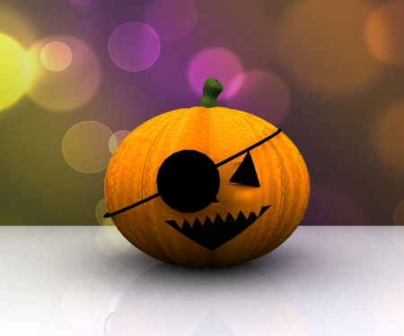 Happy halloween background - 3d photo