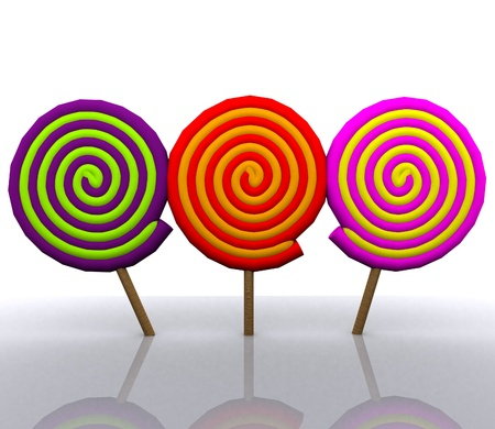 lollys: Cheerful background with candy - 3D Stock Photo