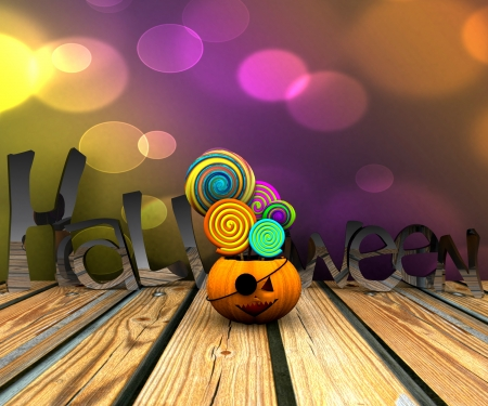 3D background of halloween - pumpkin with licks licks Stock Photo - 15627947