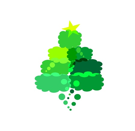 Christmas tree    with comics Stock Vector - 15649837