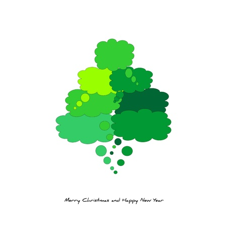 Christmas tree    with comics Stock Vector - 15649836