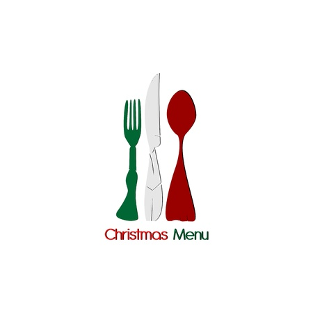 Italian Christmas Menu Vector