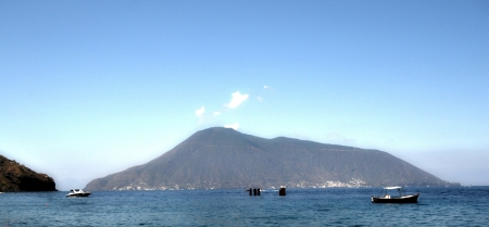 Salina - view from the island of Lipari photo