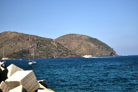 lipari: Coast of Lipari - Aeolian Islands Stock Photo