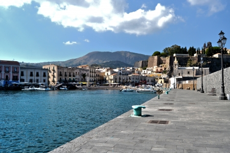 panarea: Coast of the island of Lipari, Sicily Stock Photo
