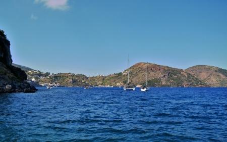 filicudi: Coast of the island of Lipari, Sicily Stock Photo