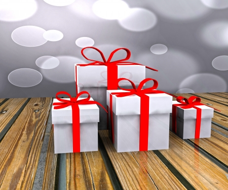 Gift boxes - 3D photo