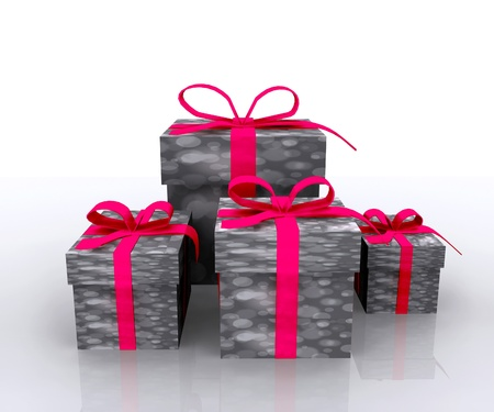 Gift boxes - 3D Stock Photo - 16035880