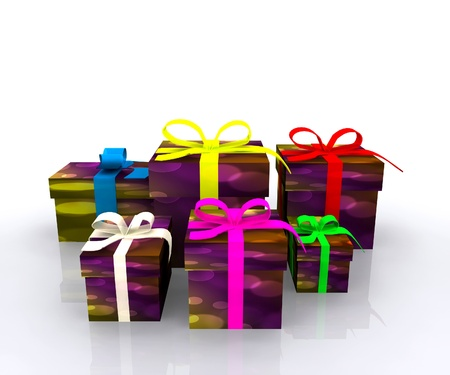 Gift boxes - 3D Stock Photo - 16035851