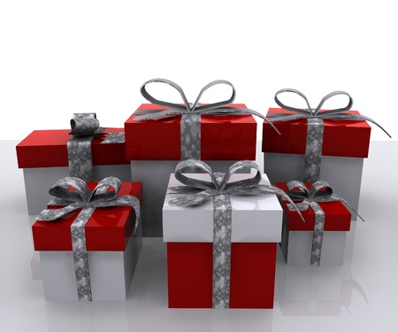 three presents: Gift boxes - 3D