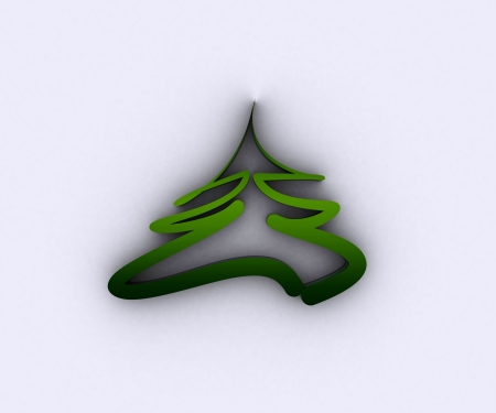 Christmas tree in metal Stock Photo - 16105824
