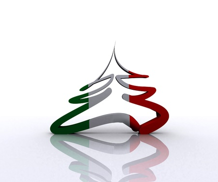 Italian Christmas tree - 3D Stock Photo - 16105855