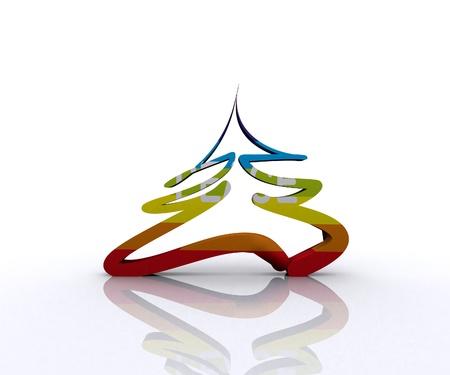 Christmas Tree of Peace - 3D Stock Photo - 16105851