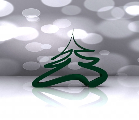 Colorful background with Christmas tree - 3D Stock Photo - 16105870