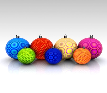 Background with Christmas balls decorated - 3D photo