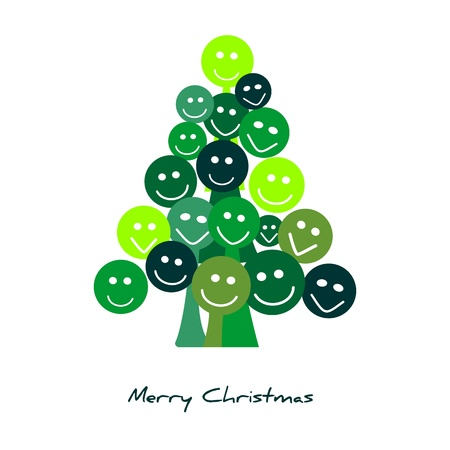 Merry christmas tree Illustration