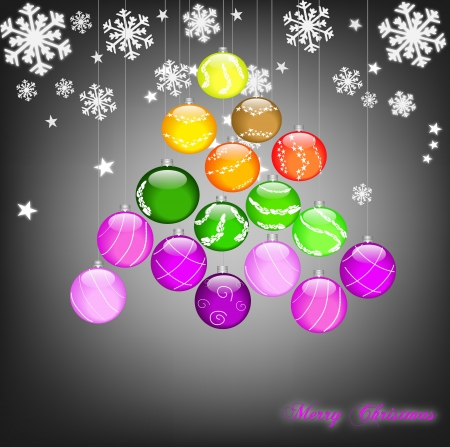 Christmas tree sparkling Stock Vector - 16228444