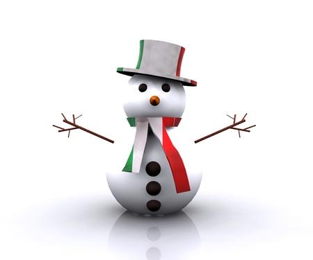 Nice Snowman Italian - 3D photo