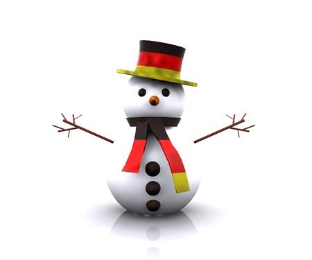 Snowman German - 3D photo