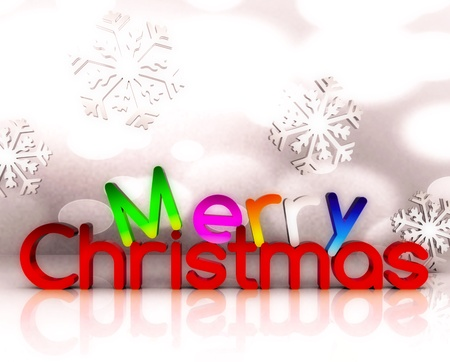 3d text: Merry Christmas - 3D Stock Photo