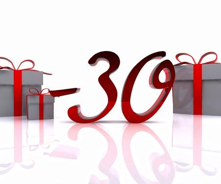 Christmas discounts - 3D photo