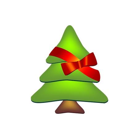 christmas postcard: Christmas tree