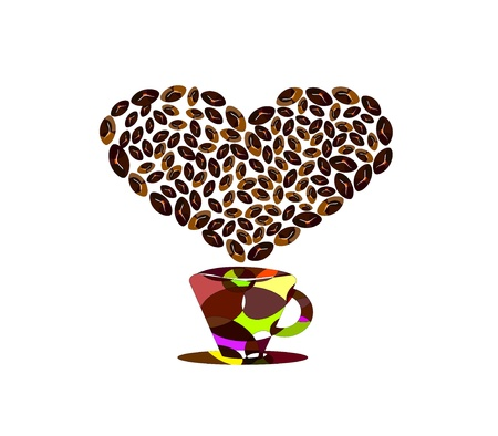 Passion for coffee Stock Vector - 16668948