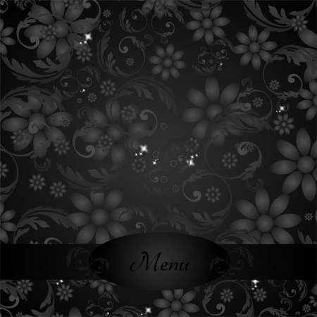 Elegant Floral Decoration for Menu photo