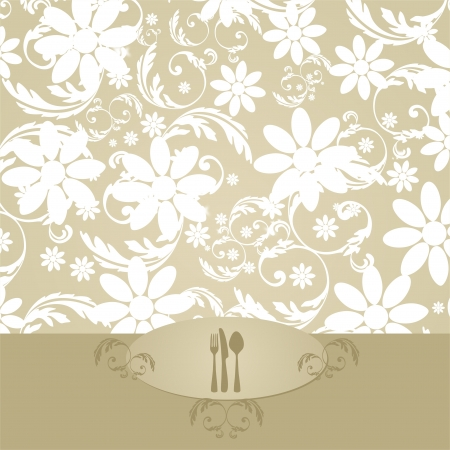 Elegant Floral Decoration for Menu Vector