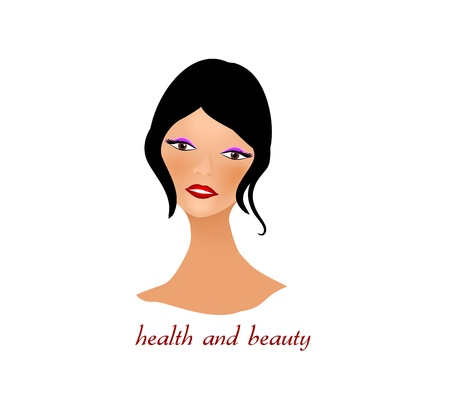 Face of beautiful woman and made up Vector