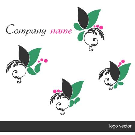 mujer con rosas: Establecer Logo - belleza y cuidado del cuerpo