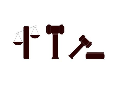 Symbols of Justice Stock Vector - 16902380