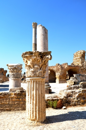 Carthage - remains of the ancient columns Stock Photo - 17266266