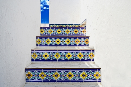 External stairs decorated with tiles Stock Photo - 17266260