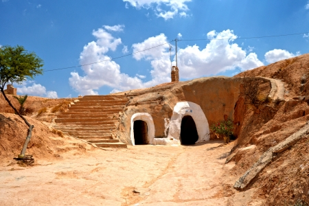 Troglodyte house in the village of Matmata - Tunisia, Africa photo