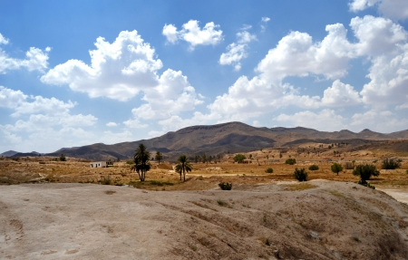 Panorama of the desert village of Matmata - Tunisia, Africa Stock Photo - 17361358